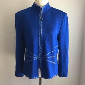 St. John Evening Embellished Cardigan Jacket